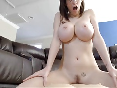 Huge Boobs Rides Dildo