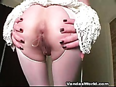 Big Dildo Fucks Her Tight Amateur Ass