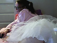 Cute Girl In Frilly Skirt Doing Webcam Chat