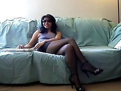 Memorial Day 2013 Webcam Play In Pantyhose & Heels.
