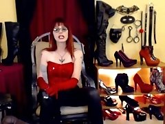 Dominatrix-bitch Gives Joi And Cum Eating Commands