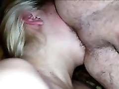 Chubby Blonde Eating His Bisexual Asshole