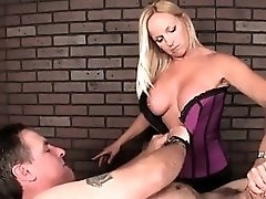 Cbt Masseuse Spanking And Flicking Subs Penis