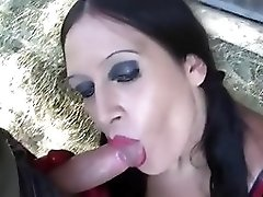 Busty Farmer Girl With Red Latex Gloves - Blowjob Handjobs - Fuck My Tits - Cum On My Big Natural Tits