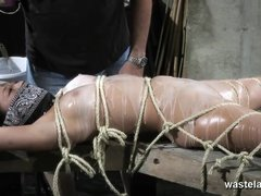 Bound Naked Slave Gets Covered With Hot Wax
