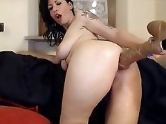 Huge Dildo And Big Holes