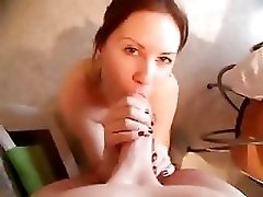 On Her Knees Blowjob In The Kitchen - Pov