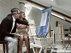 Tricky Old Teacher - Dirty Old Teacher Vlada Gets Ready To Deep Throat That