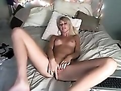 Blonde Thin Girl Fingering Her Vagina Properly In Solo