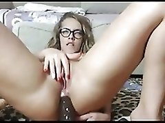 Girl In Glasses Loves To Fill Her Ass