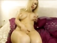 Blonde With Perfect Body Deepthroat Fucking Toy