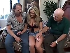 Horny Housewife Has Threesome For Hubby