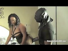 Black Chick Mouth Gagged N Pussy Fucked