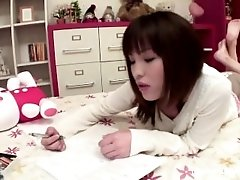 Asian Teen Masturbates In Her Bedroom With A New Toy