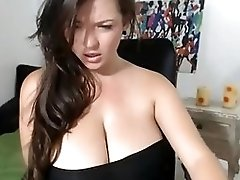Huge Titted Girl Wild Masturbation On Cam